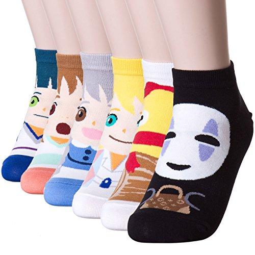 Dani scelta del famoso animazione giapponese Stampa calzini Anime 6 Pairs Taglia unica