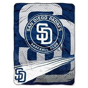 MLB San Diego Padres Speed Plush Raschel Throw Blanket, 60x80-Inch by Northwest
