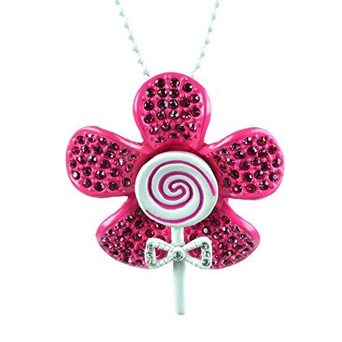Cupcake Cult Flowerpop P1-Ciondolo da donna, colore: nero, Bianco, viola e rosa, per feste Os Modest Wear, Rosa/Bianco, Taglia unica
