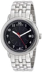88 Rue du Rhone Mens 87WA120028 Analog Display Swiss Quartz Black Watch