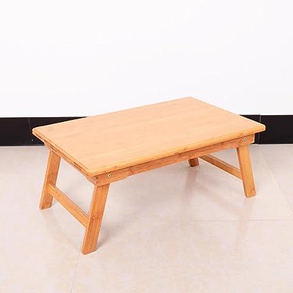 uzi-lazy persone benessere semplice bambù montato un piccolo tavolo quadrato, letto Laptop Desk pieghevole e portatile Small 40*60*45