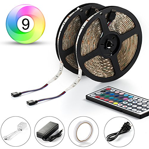 Led Strip, ABASK LED Strip Lights Kit SMD 5050 Waterproof 300leds RGB 30leds/m 32.8 Ft (10M) with 44key IR Controller For Car Truck Boat Christmas Graduation Party Weddings Indoor-Outdoor Decoration (Led Car Strip Light Line compare prices)