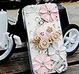 ◆3Dデコ盛り♪♪キラキラ♪ラインストーンケース/iphone5/アイフォン5/専用ケースカバー/かぼちゃの馬車P
