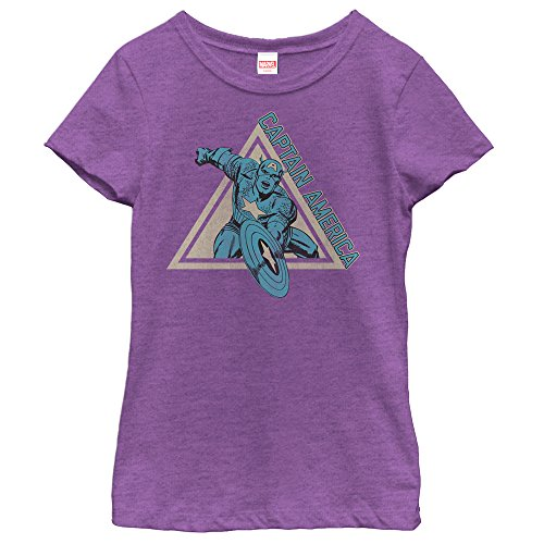 Marvel Triangle Captain America Girls Graphic T Shirt - Fifth Sun