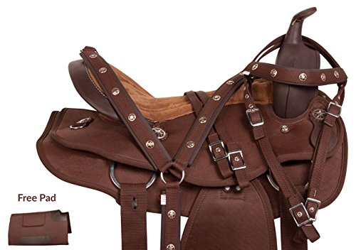 texas-star-silver-western-pleasure-trail-show-horse-barrel-saddle-tack-set-comfy-17