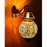 Home Decorative Mosaic Glass Wall Sconce Lamp 13 X 9 Inches
