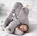 SkyleCoel Baby Childrens Long Nose Elephant Pillows Soft Plush Stuff Dolls Lumbar Pillow
