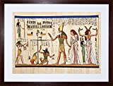 9x7 INCH PAINTING ANCIENT EGYPTIAN HEIROGLYPHICS HORUS THOTH ANUBIS MURAL FRAMED WALL ART PRINT PICTURE PAINTING WOODEN PHOTO FRAME BLACK WHITE OAK BROWN F97X652