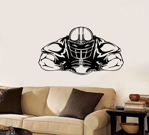 Housewares Wall Vinyl Decal Sport People American Football Player Home Art Decor Kids Nursery Removable Stylish Sticker Mural Unique Design For Any Room front-962459
