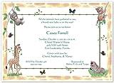 Jungle Animals Baby Shower Invitations - Set of 20
