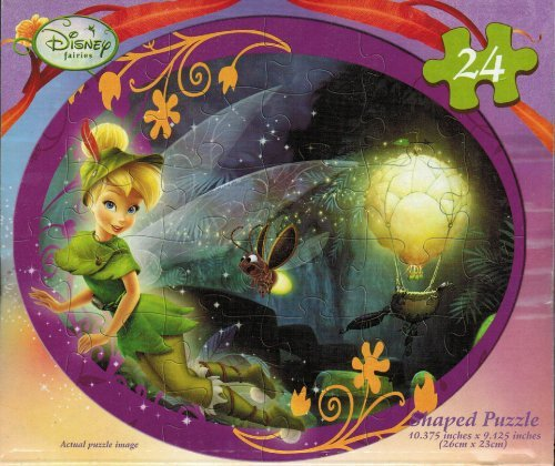 Disney fairies Tinkerbell Lost Treasure 24 Piece Shaped Puzzle - 1