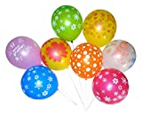 GrandShop 50330 Printed Balloons Multicolor (Pack of 50 pcs)