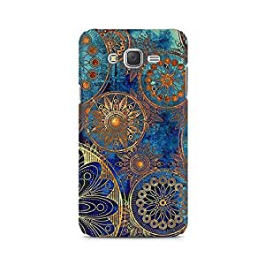 Ebby Golden Floral Gears Premium Printed Case For Samsung J2