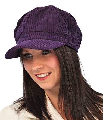 pia rossini kelsey cord baker boy hat black co