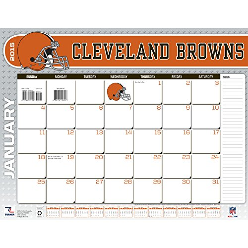 Turner Perfect Timing 2015 Cleveland Browns Desk Calendar, 22 X 17 Inches (8061444)