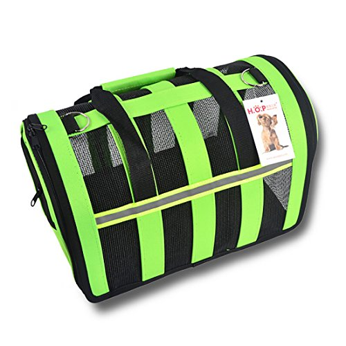 Petoy Animals Carriers, Soft-sided Pet Carrier – Pet Travel Portable Bag Home for Dogs, Cats and Puppies (S, Green)