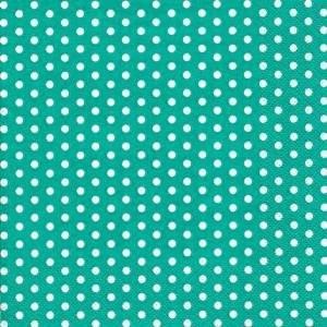 ti-flair - Servietten - Bolas turquoise - Punkte / gepunktet / weiß türkis 24x24cm