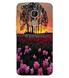 ColourCraft Lovely Flowers Design Back Case Cover for LeEco Le 2