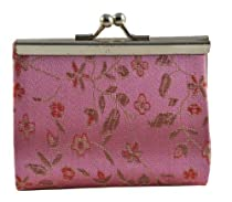 Chinese Pink Silk Brocade Coin Purse / Coin Pouch / Change Purse, #11