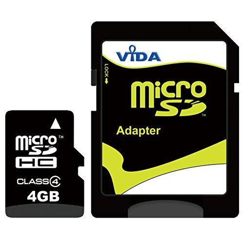 Nouva Vida IT 4GB Micro SDHC Scheda di Memoria per il Cellulare Samsung - T559 Comeback - T669 Gravity T - T739 Katalyst - T746 Impact Tablet PCs - Garanzia a vita limitata - con Adattatore SD
