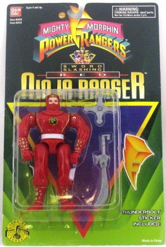 Mighty Morphin Power Rangers: Sword Slashing Red Ninja Ranger Action Figure (Power Ranger Barbie compare prices)