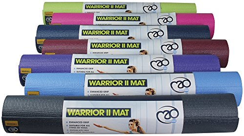Yoga-mad Warrior Ii Mat 4mm Light Blue