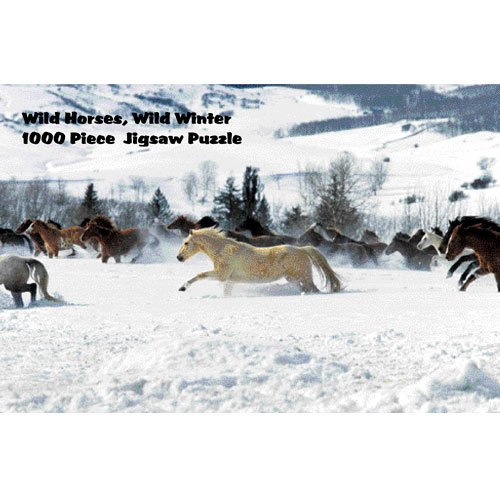 Intrepid International Wild Horses in Winter Puzzle