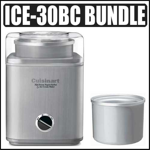 Cuisinart ICE-30BC Pure Indulgence 2-quart Automatic Frozen Yogurt Sorbet and Ice Cream Maker Kit