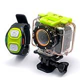 170 Grad WIFI Full HD Sport Action Kamera Wasserdicht - 1080p Video, Handschlaufe Fernbedienung, Weitwinkel-Objektiv F20WIFI