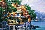Portofino Villa by Behrens, Howard- Fine Art Print on CANVAS : 65 x 44 Inches