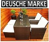 Gartenmbel-PolyRattan-DEUTSCHE-MARKE-EIGNENE-PRODUKTION-Ragnark-Mbeldesign-Essgruppe-Tisch-mit-2-Sthlen-2-Hocker-Garten-Mbel-incl-Glas-und-Sitzkissen-braun