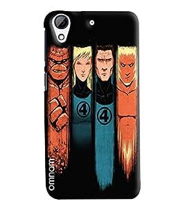 Omnam Four Super Heros Printed Designer Back Cover Case For HTC Desire 728