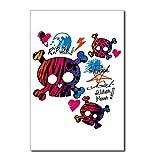Postcards (8 Pack) Punk Girl Skulls Peace Symbol