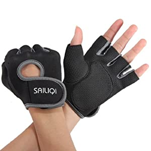 Gants sport halterophilie aviron Boxe Fitness Bodybuilding Gym Velo Cyclisme VTT Sport Gloves fitness musculation M noir