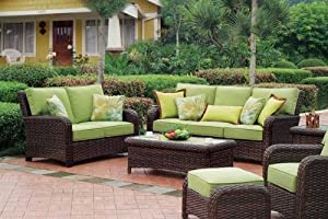 South Sea Rattan Saint Tropez Outdoor Wicker Patio Furniture Set
