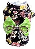 SOMAN ペット用 洋服 お祭り着物 犬服 猫服 夏服 かわいい ドレス ワンピース ブラック L