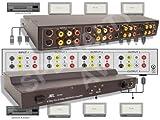 2 in x 6 out Composite RCA S-Video, Audio Distribution Amplifier Amp Splitter Matrix Distributor