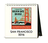 Cavallini Papers & Co CAL16-8 2016 San Francisco Desk Calendar
