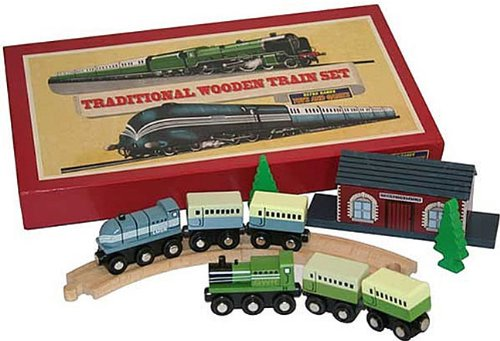 House Of Marbles Traditional Wooden Train Set