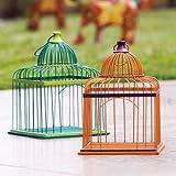 Decorative Metal Global Garden Birdcage Set Of 2