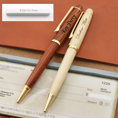 Executive Wood Ballpoint Pen in Gift Box