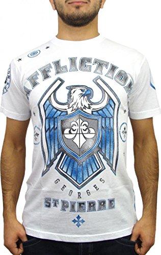 Affliction George St Pierre GSP Royal Guard UFC 167 Walk Out T-Shirt XXL White