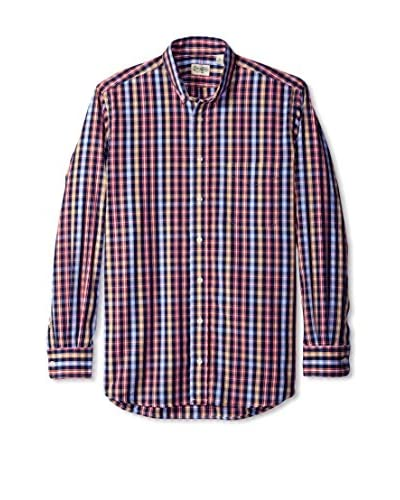 Gitman Blue Men's Check Button Down Sport Shirt