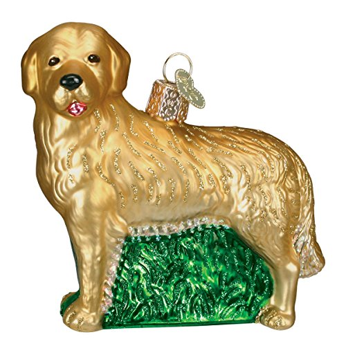 Old World Christmas Golden Retriever Glass Blown Ornament