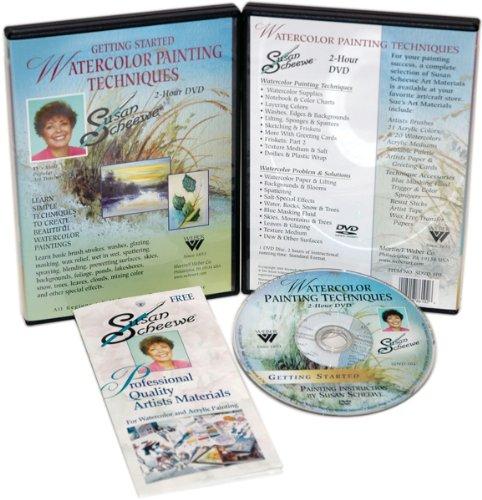 Weber Susan Scheewe 2-Hour Painting DVD, Watercolor Techniques