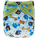 Charcoal Bamboo All In One Cloth Diaper with Pocket (Wild)