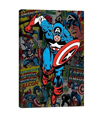 Marvel Comics Gallery Captain America Covers Collage Canvas Print