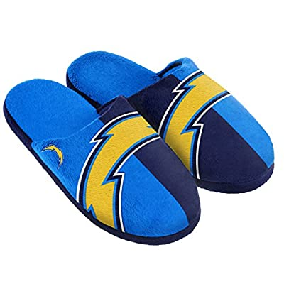 NFL San Diego Chargers Split Color Slide Slipper, X-Large, Blue