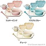 【LE CREUSET(ルクルーゼ)】 ベビー テーブルウェア ギフトセット ブルー 910427-00-122