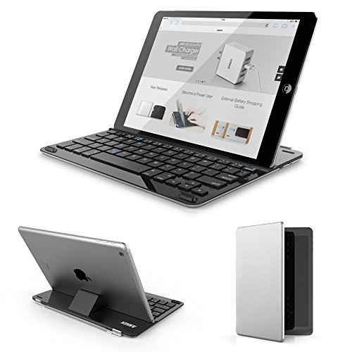 Anker® Ultra-Thin Bluetooth Wireless Keyboard Case / Cover With Stand For Ipad Air - Built-In High Capacity Lithium Battery
